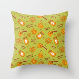 Organic Honey Pattern Throw Pillow