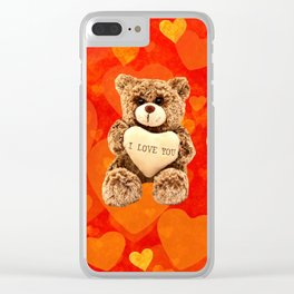 Love Teddy Bear Clear iPhone Case