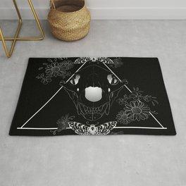 Bear Skull And Deathheads Rug