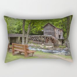 Glade Creek Grist Mill In Summer Rectangular Pillow