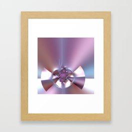 An abstract bow - sealed with kisses Framed Art Print