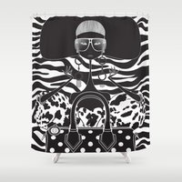 marc Shower Curtains featuring Marc Jacobs Close by Leandro Dario