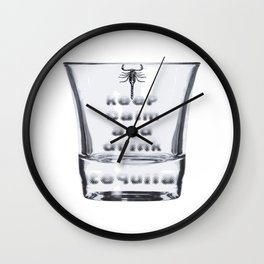 Blurred Vision Keep Calm And Drink Tequila Shots Wall Clock