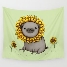 Pugflower Wall Tapestry