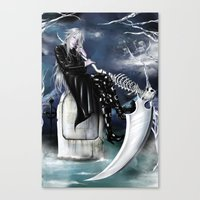 kuroshitsuji Canvas Prints featuring Undertaker/Kuroshitsuji by Kali-Mav