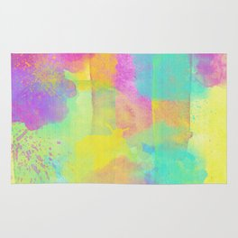 Rainbowcolors Watercolor Rug