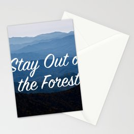 My Favorite Muder: Stay Out of the Forest Stationery Cards