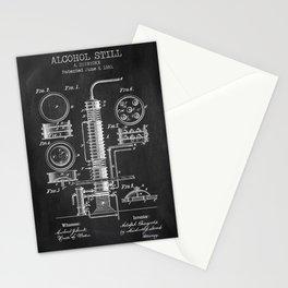 Alcohol Still chalkboard patent Stationery Cards