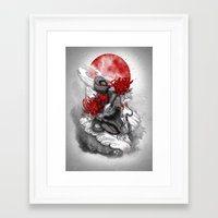 dragon Framed Art Prints featuring Dragon by Marine Loup