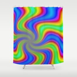psychedelic 8 Shower Curtain