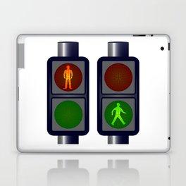 Walking Man Traffic Lights Laptop & iPad Skin