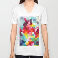 sublime V-neck T-shirts featuring sublime geometries 01 by Sarah Joy Nikkel