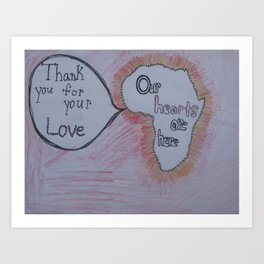 Our Hearts are Here: Africa Art Print