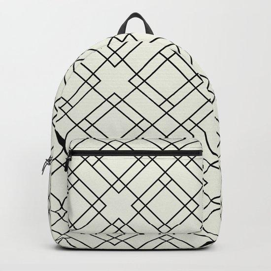 Simply Mod Diamond Black and Cream Backpack