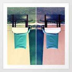 An Upside Down Dumping Art Print