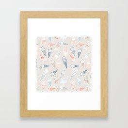 Colorful icecream for summertime Framed Art Print