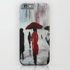 The Girl With The Red Umbrella Impressionist Fine Art iPhone 6 Slim Case