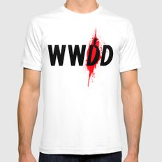 What Would Dexter Do? Mens Fitted Tee White SMALL