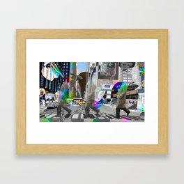 Big Apple Crossing Framed Art Print