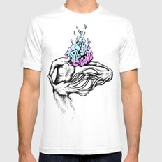 Gathering My Thoughts for the Night Mens Fitted Tee White SMALL