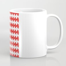 jaggered and staggered in poppy red Mug