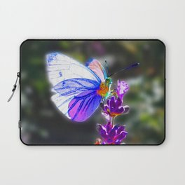 Butterfly on the Lavender Laptop Sleeve
