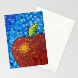 Red Apple -Delicious bright red apple by Labor of Love artist Sharon Cummings. Stationery Cards