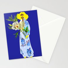 Faces on Her Dress Stationery Cards