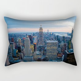New York City Dusk Rectangular Pillow