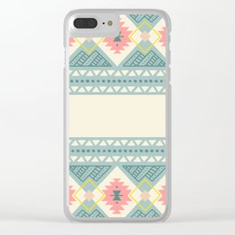 Colorful Geometric Boho Style 2 Clear iPhone Case
