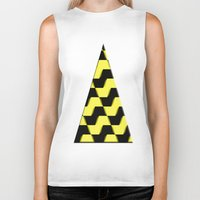 yellow pattern Biker Tanks featuring Yellow and black pattern by LoRo  Art & Pictures