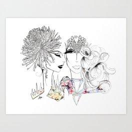 Flowergirls Art Print
