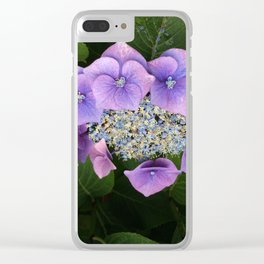 Purple Posy Perfection Clear iPhone Case