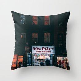 99 Cent Pizza Throw Pillow