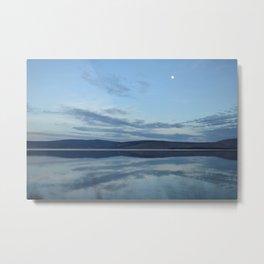 Klamath Lake reflecting clouds Metal Print