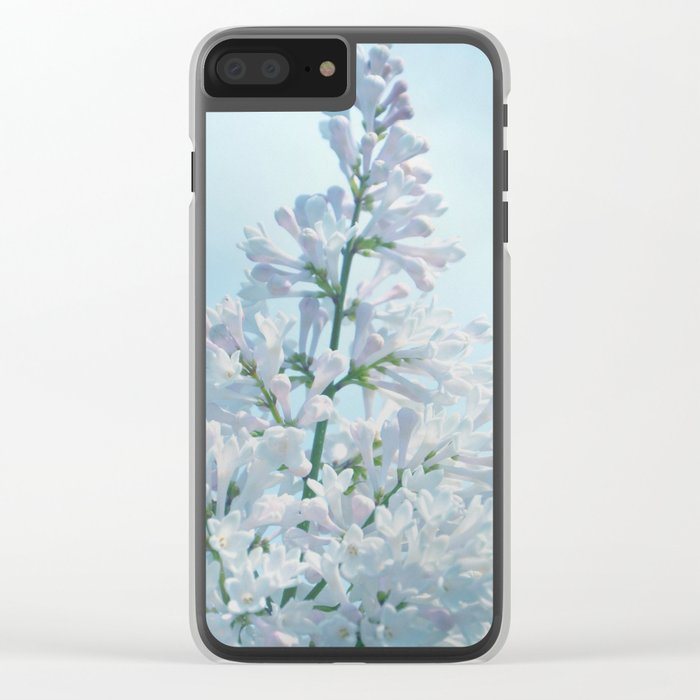 SOFT BLUE LILAC Clear iPhone Case