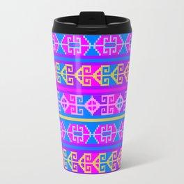 Colorful Mexican Aztec geometric pattern Travel Mug