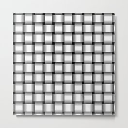 White Weave Metal Print