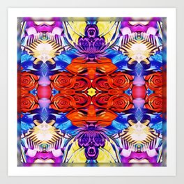 Roses are Red Mandala Style Art Print