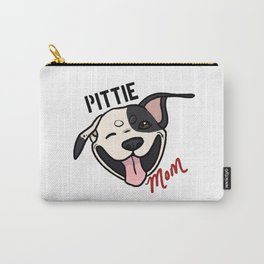 Black and White Pittie Mom Carry-All Pouch