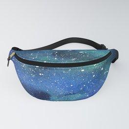 Galaxy Space Sky Watercolor Cosmic Art Fanny Pack