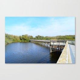 Lake front Canvas Print