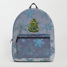 Christmas tree & snow v.2 Backpack