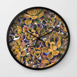 Floral tribute [honey] Wall Clock