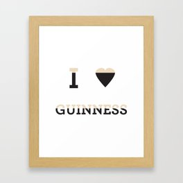 I heart Guinness Framed Art Print