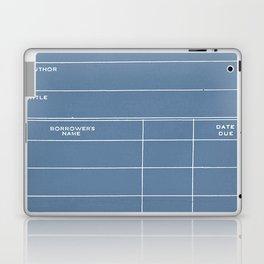 Library Card BSS 28 Negative Blue Laptop & iPad Skin