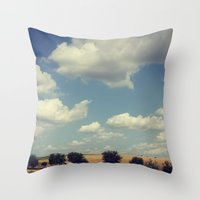 wisconsin Throw Pillows featuring Wisconsin Summer by KunstFabrik_StaticMovement Manu Jobst