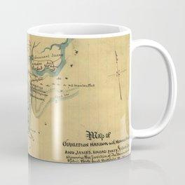 Vintage Charleston Harbor Battle Map (1865) Coffee Mug