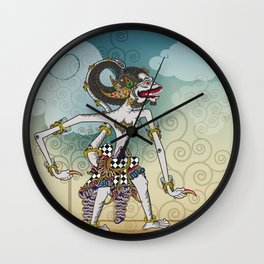 Modification of the puppet characters Hanuman white monkey in the story of the Ramayana Wall Clock