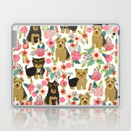 Yorkshire Terrier cute florals must have gifts for dog lover yorkie owners delight secret gifts art Laptop & iPad Skin